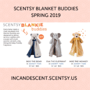 NEW SCENTSY BLANKET BUDDIES BOO THE BEAR SCENTSY BLANKET BUDDY WITH JAMMY TIME