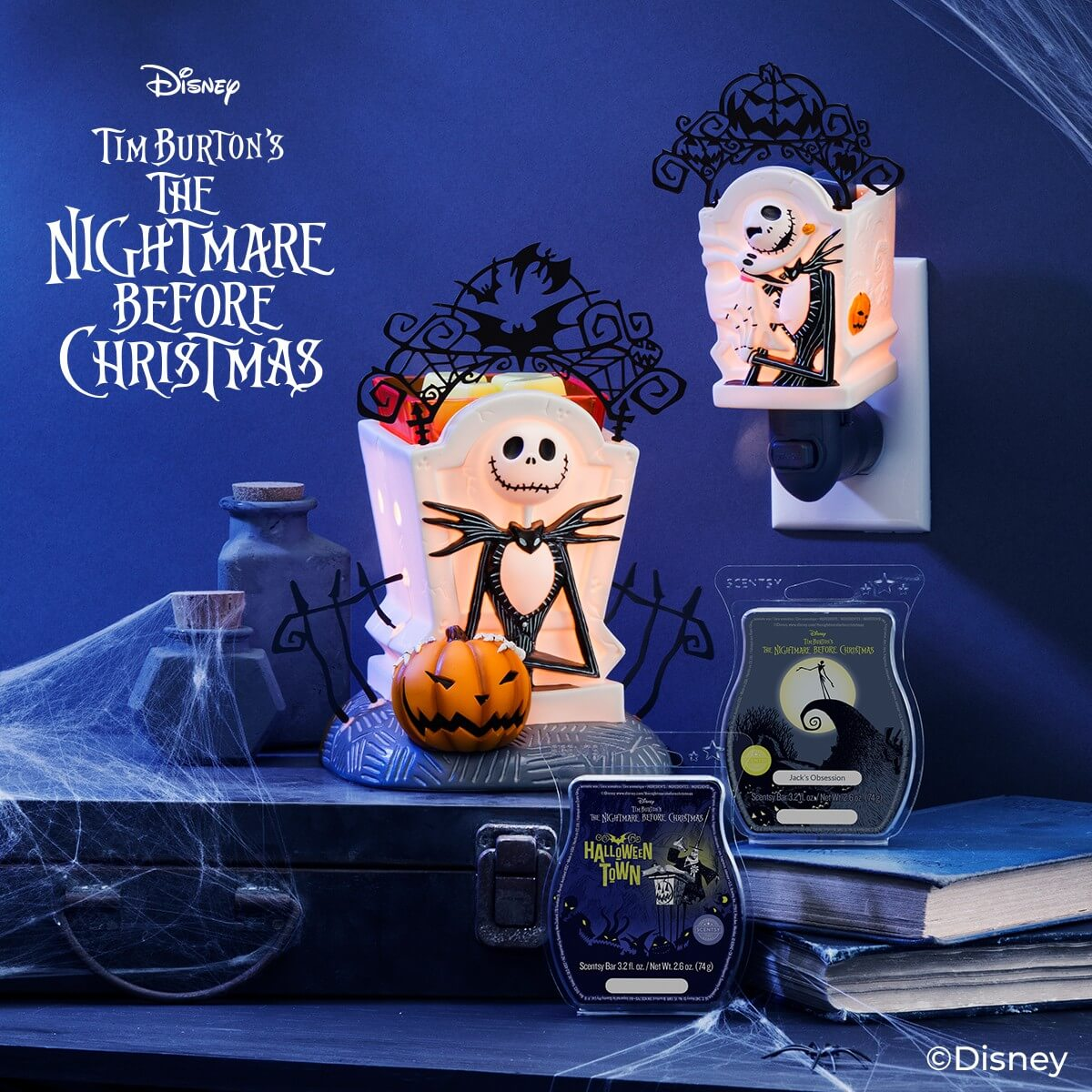 JACK SKELLINGTON SCENTSY WARMER, JACK & SALLY SCENTSY BUDDY | DISNEY: NIGHTMARE BEFORE CHRISTMAS SCENTSY COLLECTION