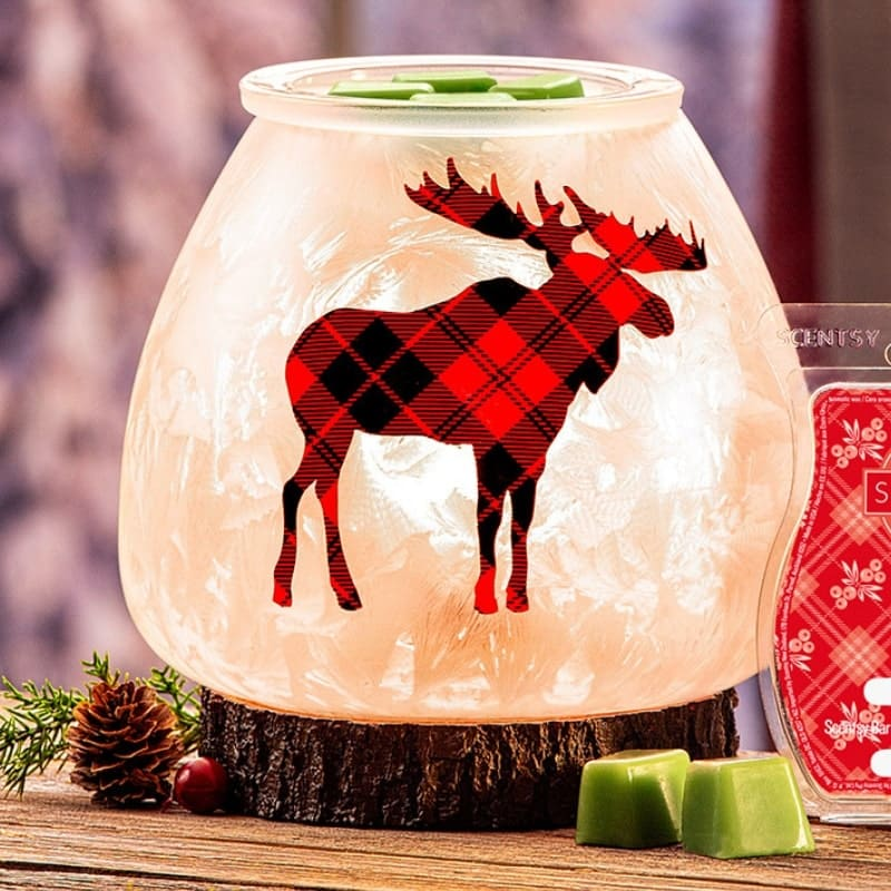 SCENTSY NORTHERN PLAID MOOSE SCENTSY WARMER
