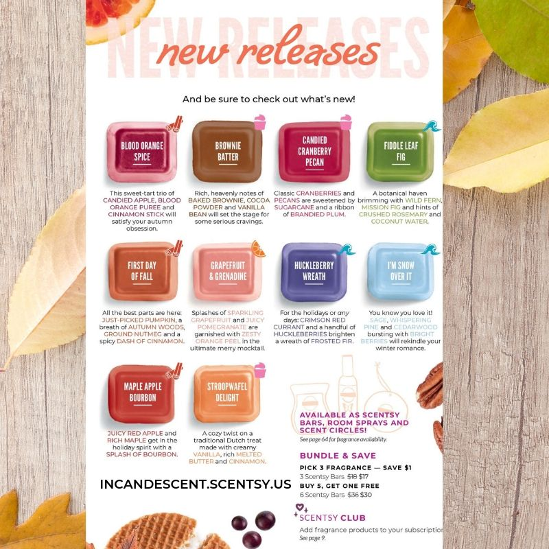 SCENTSY NEW RELEASE FALL 2019 FRAGRANCES