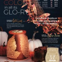 SCENTSY OCTOBER 2018 WARMER & SCENT OF THE MONTH - GOLD LEAF SCENTSY WARMER & BUTTER PECAN SCENTSY FRAGRANCE