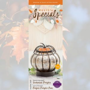 OCTOBER 2019 SPECIAL - ENCHANTED PUMPKIN & PERFECT PUMPKIN PEAR-min | SCENTSY OCTOBER 2019 WARMER & SCENT OF THE MONTH - ENCHANTED PUMPKIN SCENTSY WARMER & PERFECT PUMPKIN PEAR