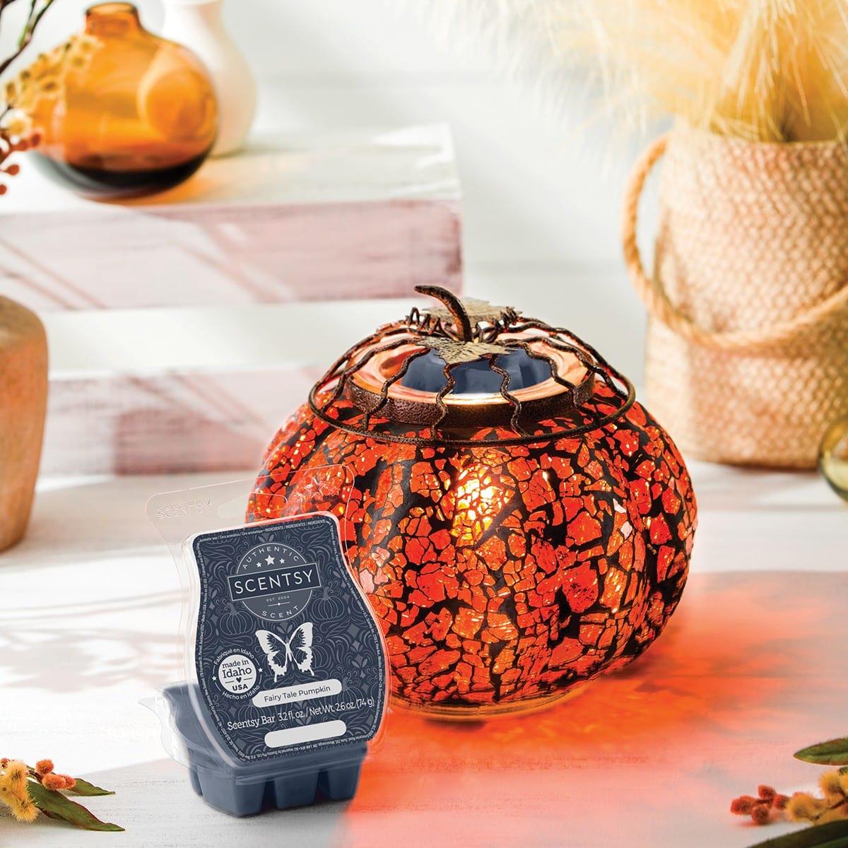 October 2021 Warmer of the Month Mosaic Pumpkin