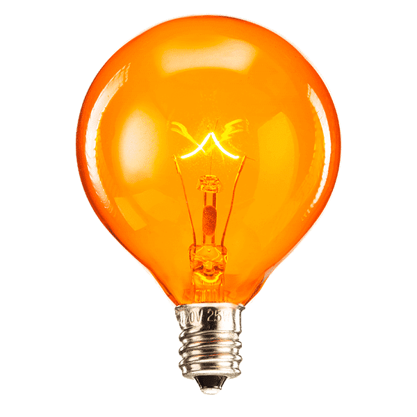 Orange Scentsy Bulb | 20 Watt Orange Scentsy Light Bulb