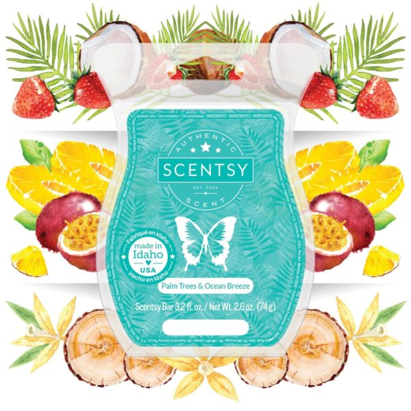 PALM TREES OCEAN BREEZE SCENTSY BAR | Palm Trees & Ocean Breeze Scentsy Scent Circle | May 2021
