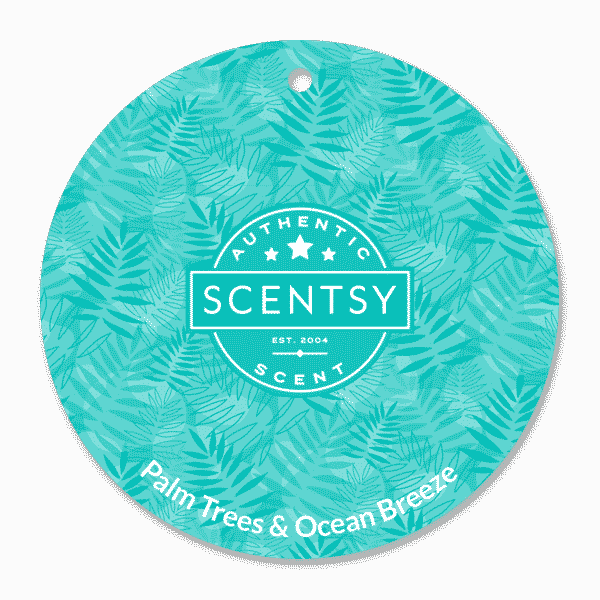 PALM TREES OCEAN BREEZE SCENTSY SCENT CIRCLE
