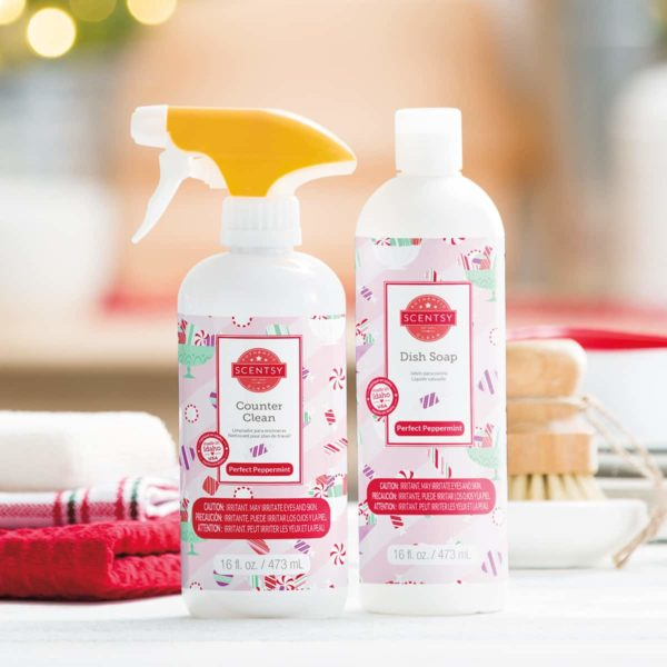PERFECT PEPPERMINT SCENTSY HOLIDAY CLEAN BUNDLE