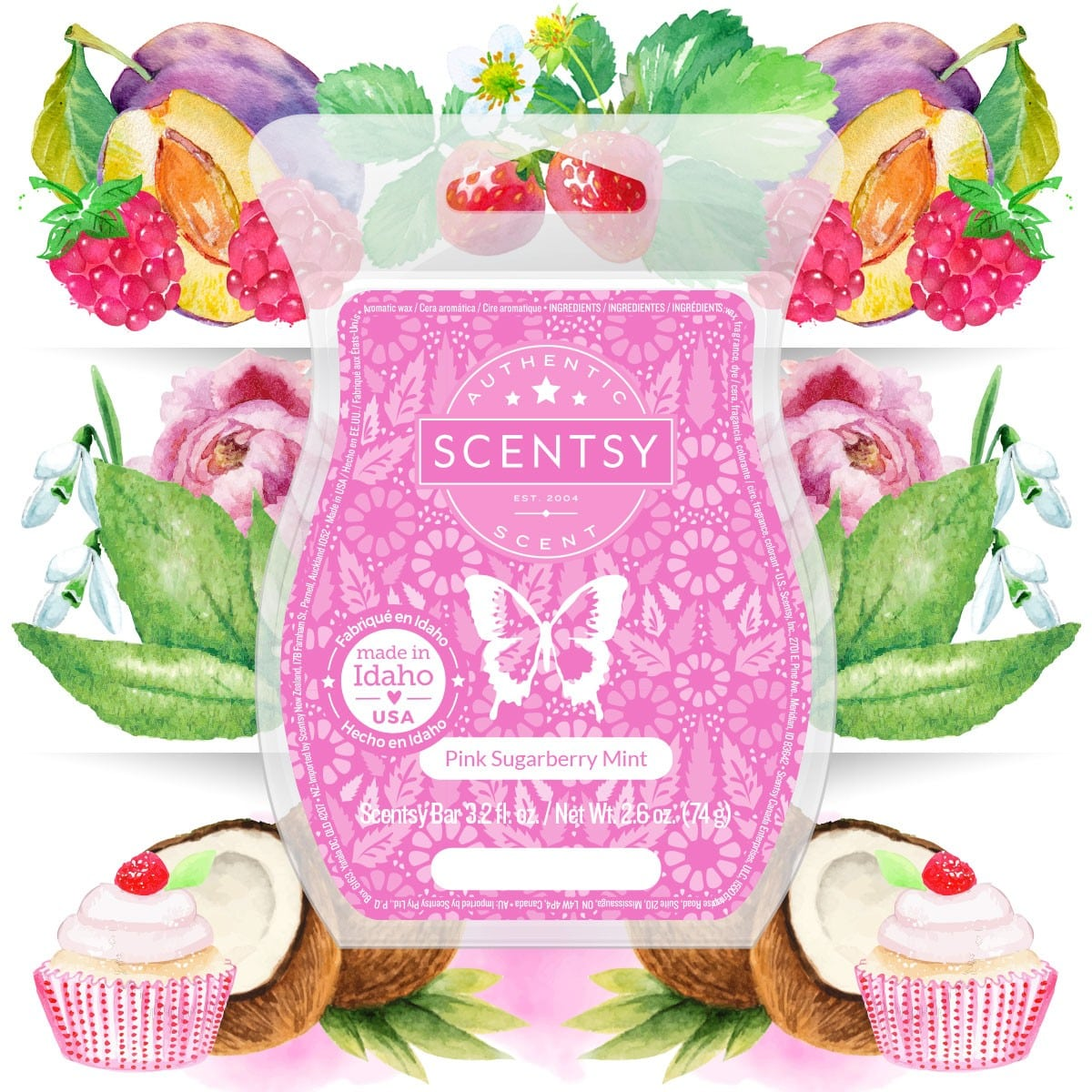 PINK SUGARBERRY MINT SCENTSY BAR DETAILS