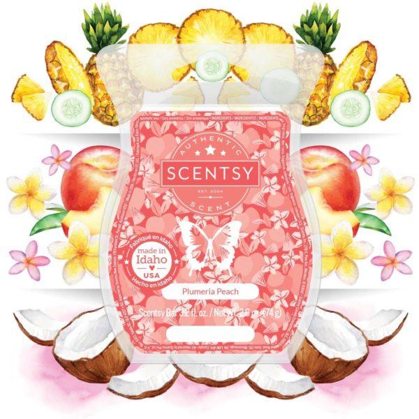 PLUMERIA PEACH SCENTSY FRAGRANCE NOTES   NEW! Plumeria Peach Scentsy Bar   April 2021   Incandescent.Scentsy.us