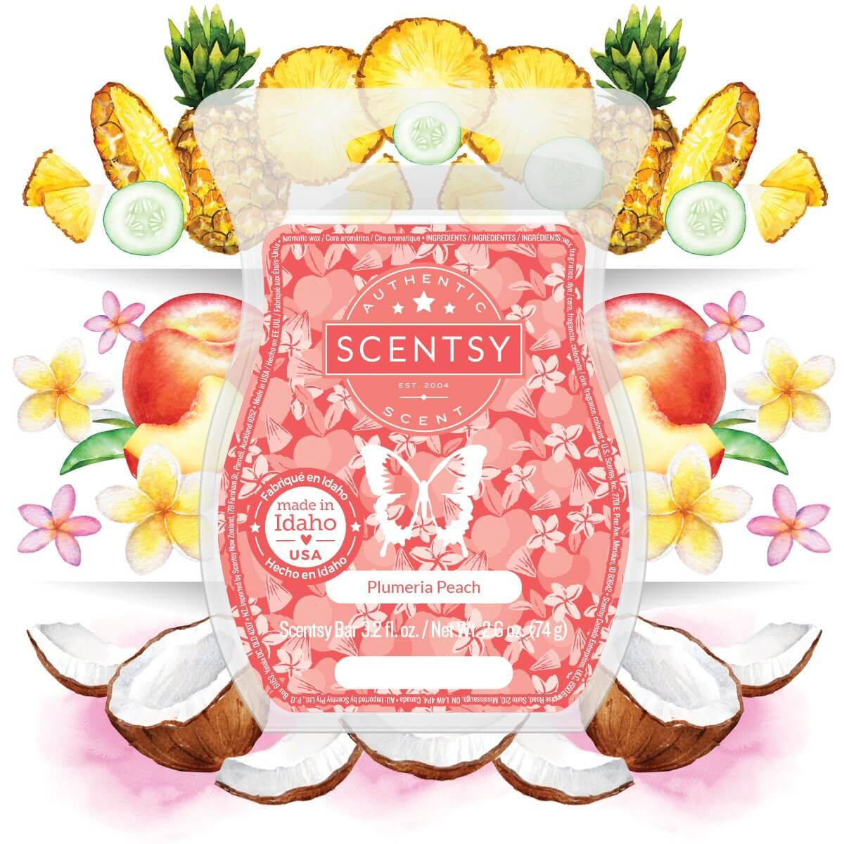 PLUMERIA PEACH SCENTSY FRAGRANCE NOTES