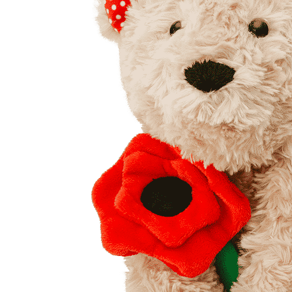 Poppy The Bear Scentsy Buddy Flower