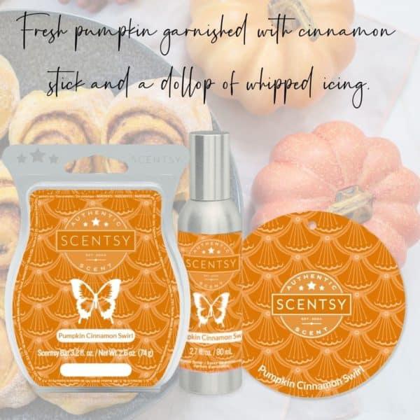 Pumpkin Cinnamon Swirl Scentsy Fragrance   Pumpkin Cinnamon Swirl Scentsy Bar   Incandescent.Scentsy.us