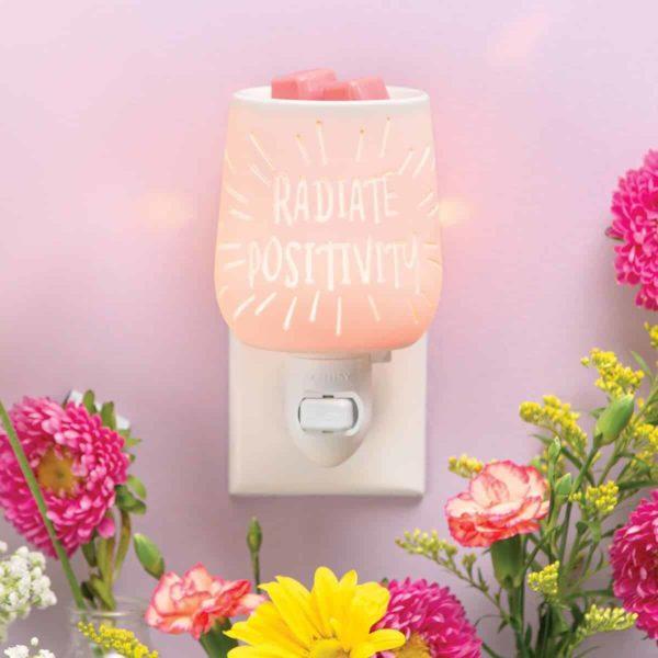 RADIATE POSITIVITY MINI SCENTSY WARMER | Radiate Positivity Mini Scentsy Warmer