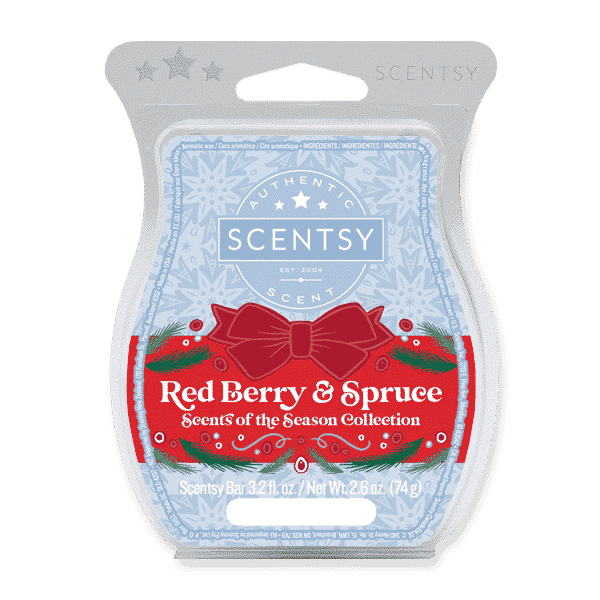 RED BERRY SPRUCE SCENTSY BAR | Red Berry & Spruce Scentsy Bar
