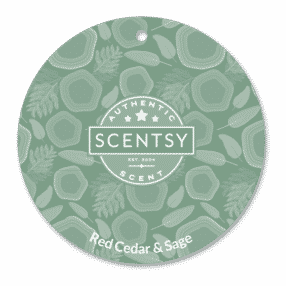 RED CEDAR AND SAGE SCENTSY SCENT CIRCLE