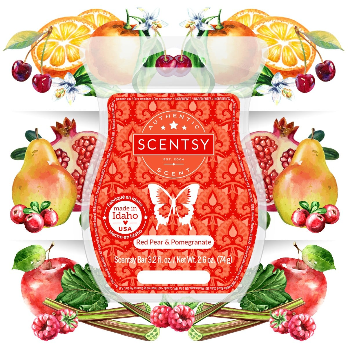 RED PEAR POMEGRANATE SCENTSY FRAGRANCE