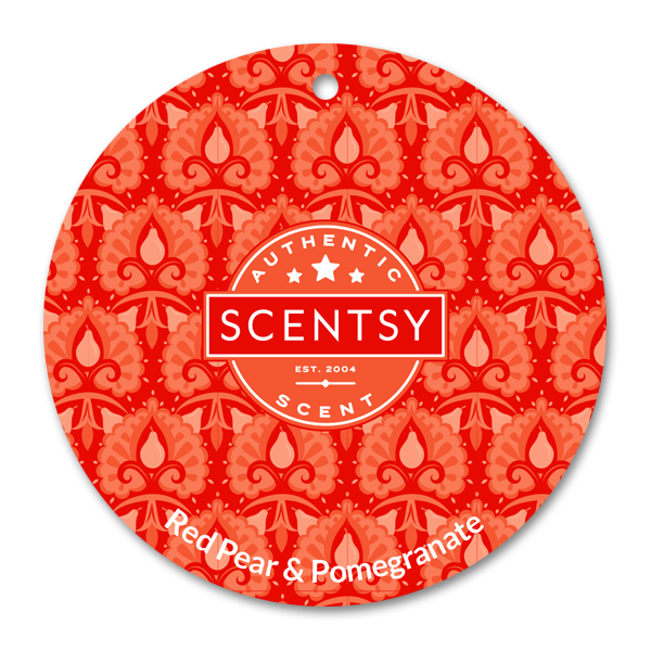 RED PEAR POMGRANATE SCENTSY SCENT CIRCLE