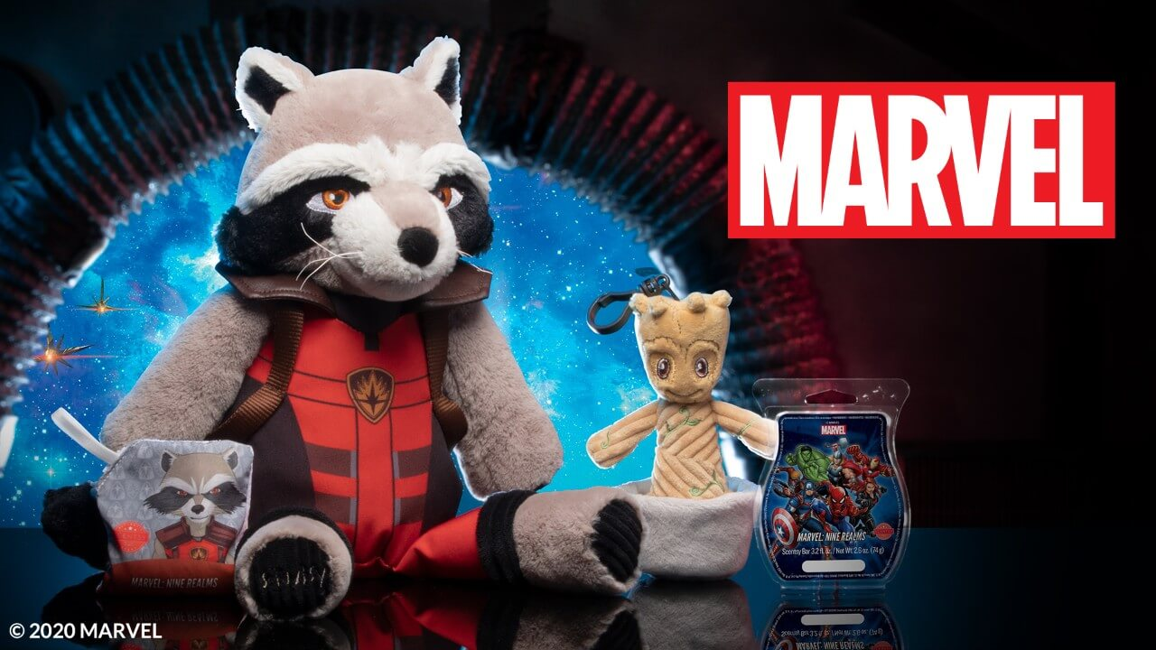 ROCKET SCENTSY BUDDY AND GROOT BUDDY CLIP 1