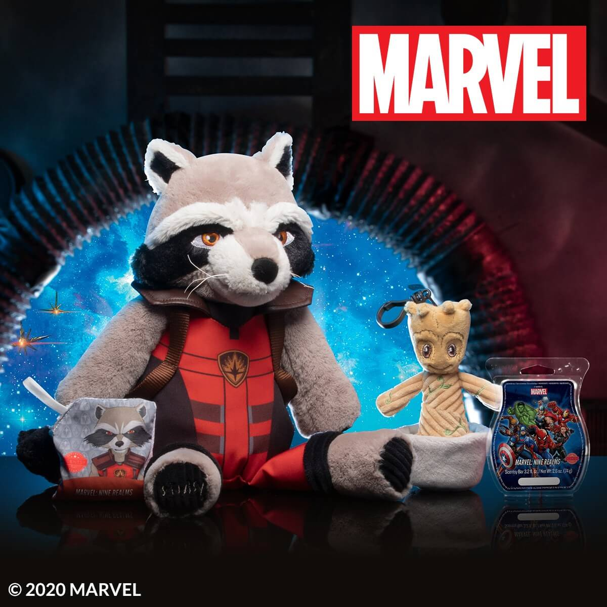 GUARDIANS OF THE GALAXY – SCENTSY COLLECTION – ROCKET SCENTSY BUDDY AND GROOT BUDDY CLIP | SHOP 8/24/20
