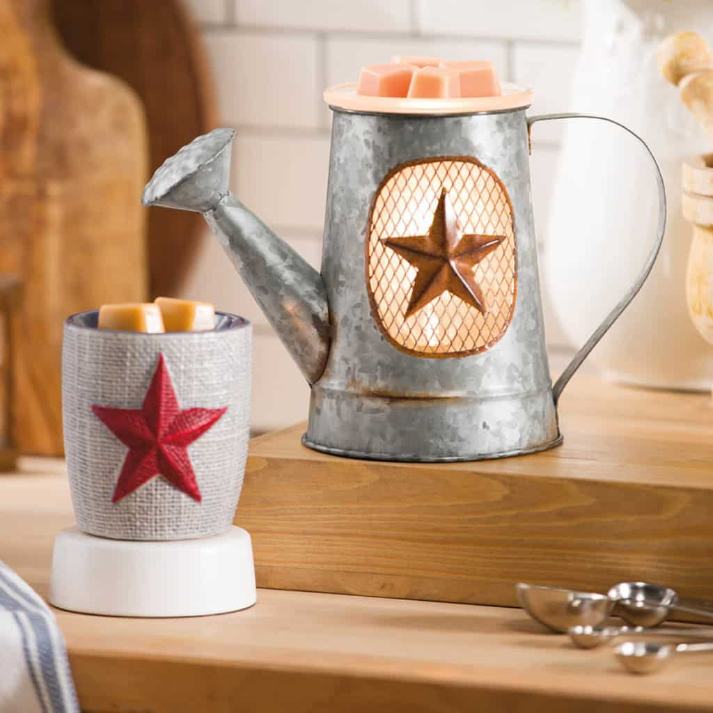 RUSTIC GARDEN AND BURLAP STAR MINI WARMER