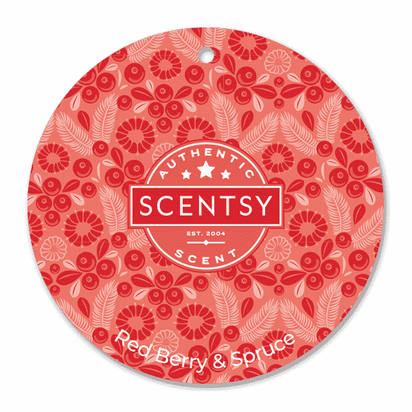 Red Berry Spruce Scentsy Scent Circle   Red Berry & Spruce Scentsy Scent Circle