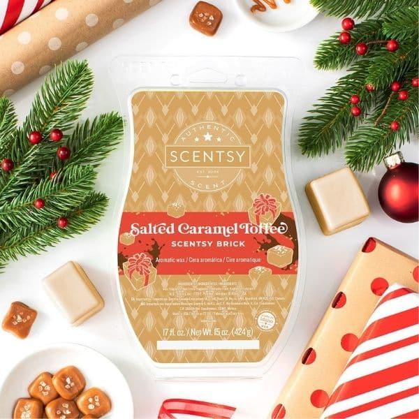 SALTED CARAMEL TOFFEE SCENTSY BRICK | SCENTSY HOLIDAY CHRISTMAS BRICKS | HOLIDAY 2020