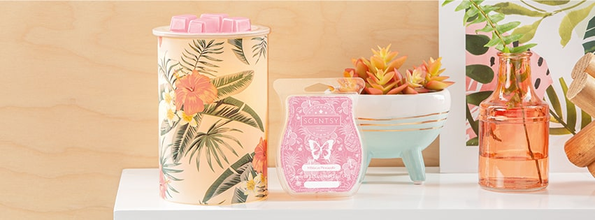 Pretty Paradise Warmer / Hibiscus Pineapple Scentsy Bar