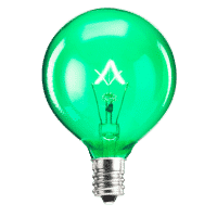 SCENTSY 25W GREEN LIGHT BULB