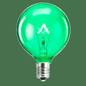 SCENTSY 25W GREEN LIGHT BULB