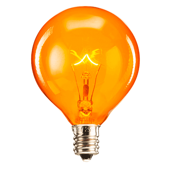 SCENTSY 25W ORANGE LIGHT BULB