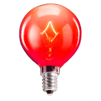 SCENTSY 25W RED LIGHT BULB