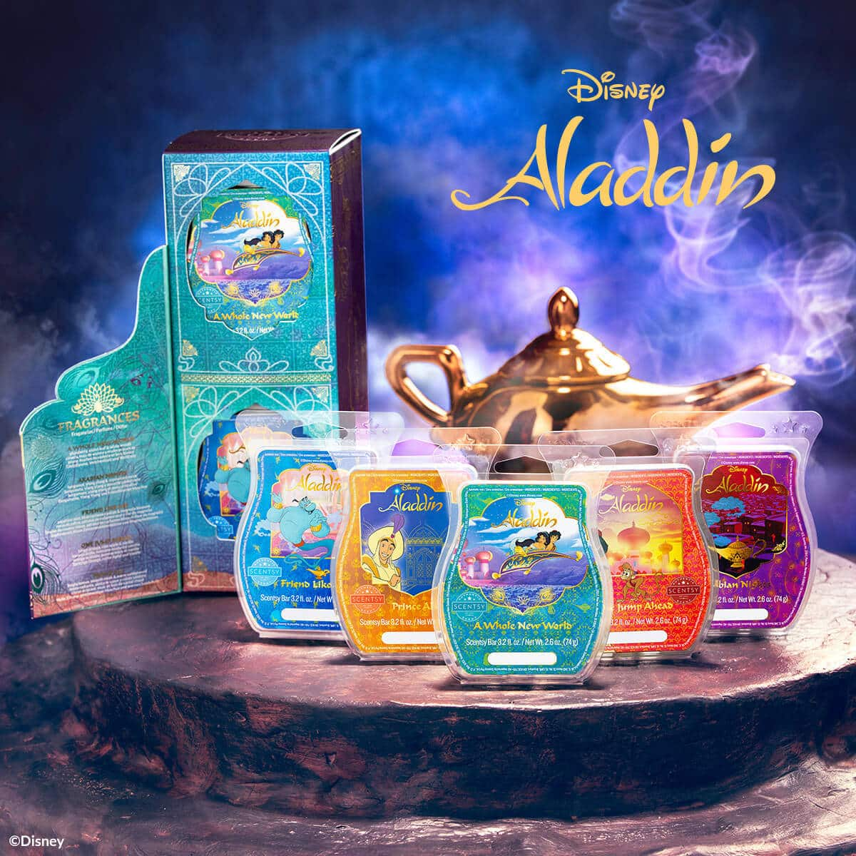 SCENTSY ALADDIN WAX COLLECTION DISNEY SCENTSY