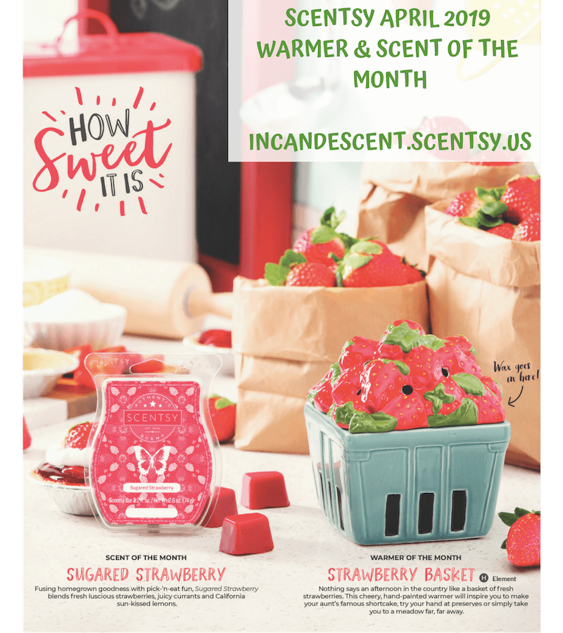SCENTSY APRIL 2019 WARMER OF THE MONTH - STRAWBERRY BASKET