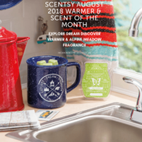 SCENTSY AUGUST 2018 WARMER & SCENT OF THE MONTH - EXPLORE DREAM DISCOVER SCENTSY WARMER & ALPINE MEADOW SCENTSY FRAGRANCE