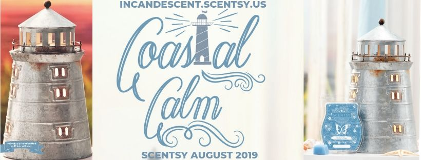 SCENTSY AUGUST 2019 WARMER & SCENT OF THE MONTH PORTLAND LIGHTHOUSE SCENTSY WARMER