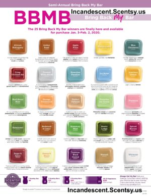 SCENTSY BRING BACK MY BAR JANUARY 2020 INCANDESCENT SCENTSY