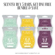 SCENTSY BUY 5 BARS, GET ONE FREE BUNDLE & SAVE INCANDESCENT SCENTSY