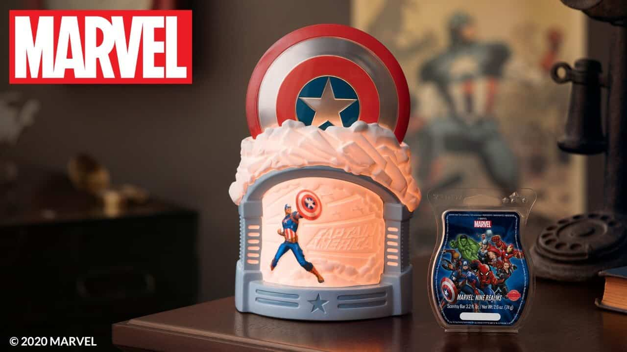 SCENTSY CAPTAIN AMERICA SHIELD WARMER 1