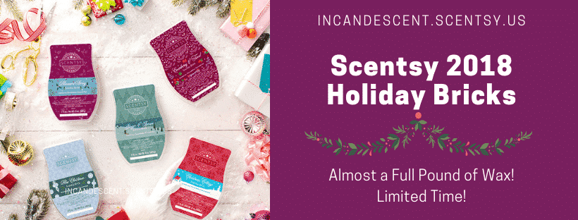 SCENTSY 2018 CHRISTMAS HOLIDAY SCENTSY BRICKS