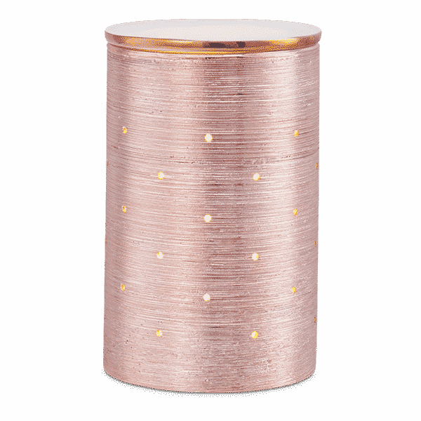 SCENTSY ETCHED CORE ROSE GOLD WARMER