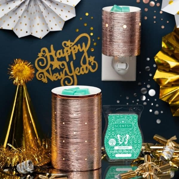 Scentsy January 2021 Warmer & Scent of the Month – Etched Core Warmers – Gold, Silver, and Rose Gold