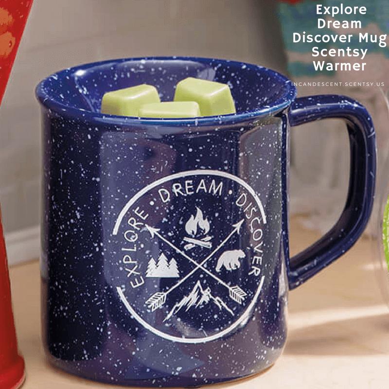 New Explore Dream Discover Mug Scentsy Warmer Scentsy