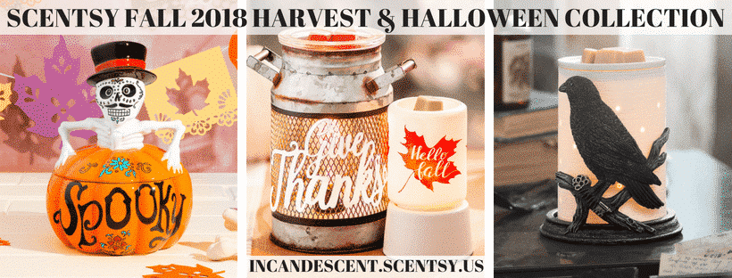SCENTSY FALL 2018 HARVEST & HALLOWEEN COLLECTION (1)   NEW! Scentsy Harvest & Halloween 2018 Collection   Scentsy® Online Store   Scentsy Warmers & Scents   Incandescent.Scentsy.us
