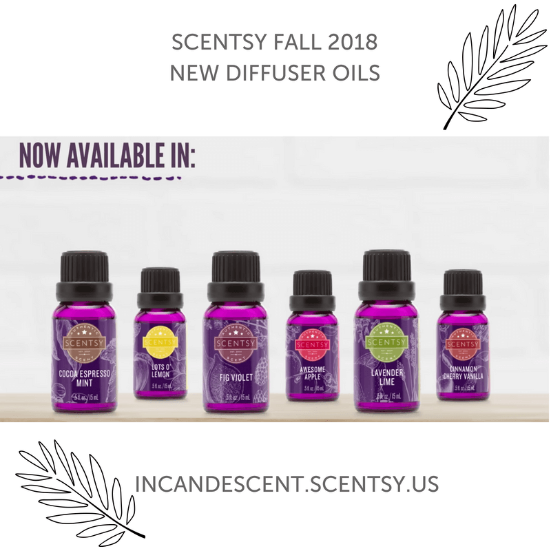SCENTSY FALL 2018 NEW SCENTSY OIL RELEASES | SCENTSY COMPLETE SCENT LIST FOR FALL WINTER 2018 2019