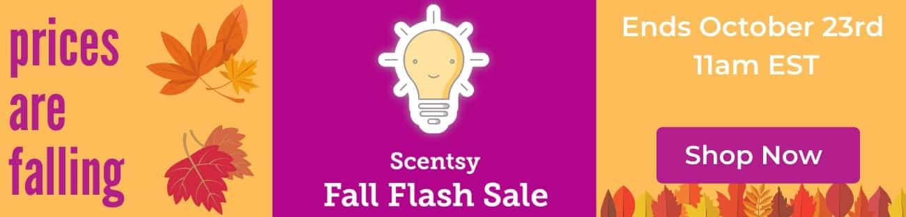 SCENTSY FALL 2019 OCTOBER 21 FLASH SALE INCANDESCENT