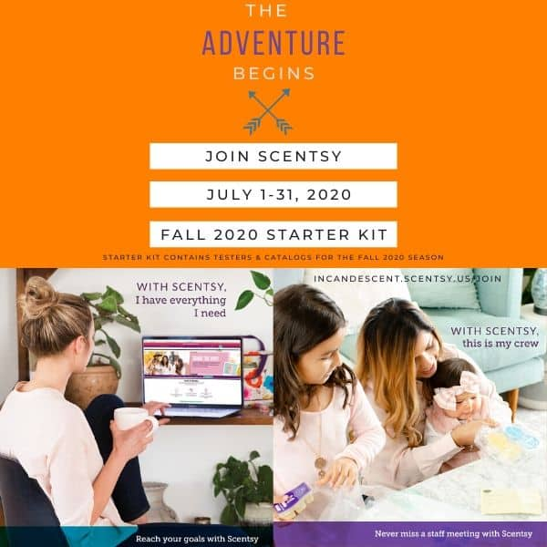 JOIN SCENTSY JULY 1 – 31, 2020 – GET THE FALL 2020 SCENTSY STARTER KIT