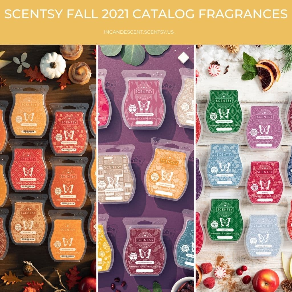 Scentsy Fall 2021 Catalog Scent List