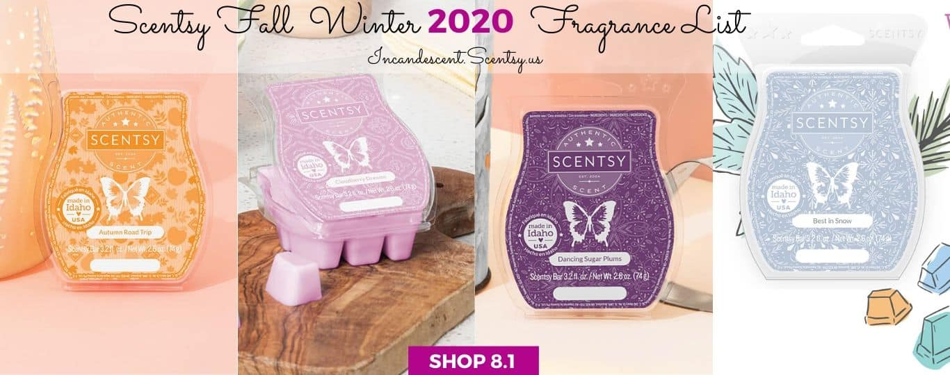 SCENTSY FALL WINTER 2020 FRAGRANCE LIST