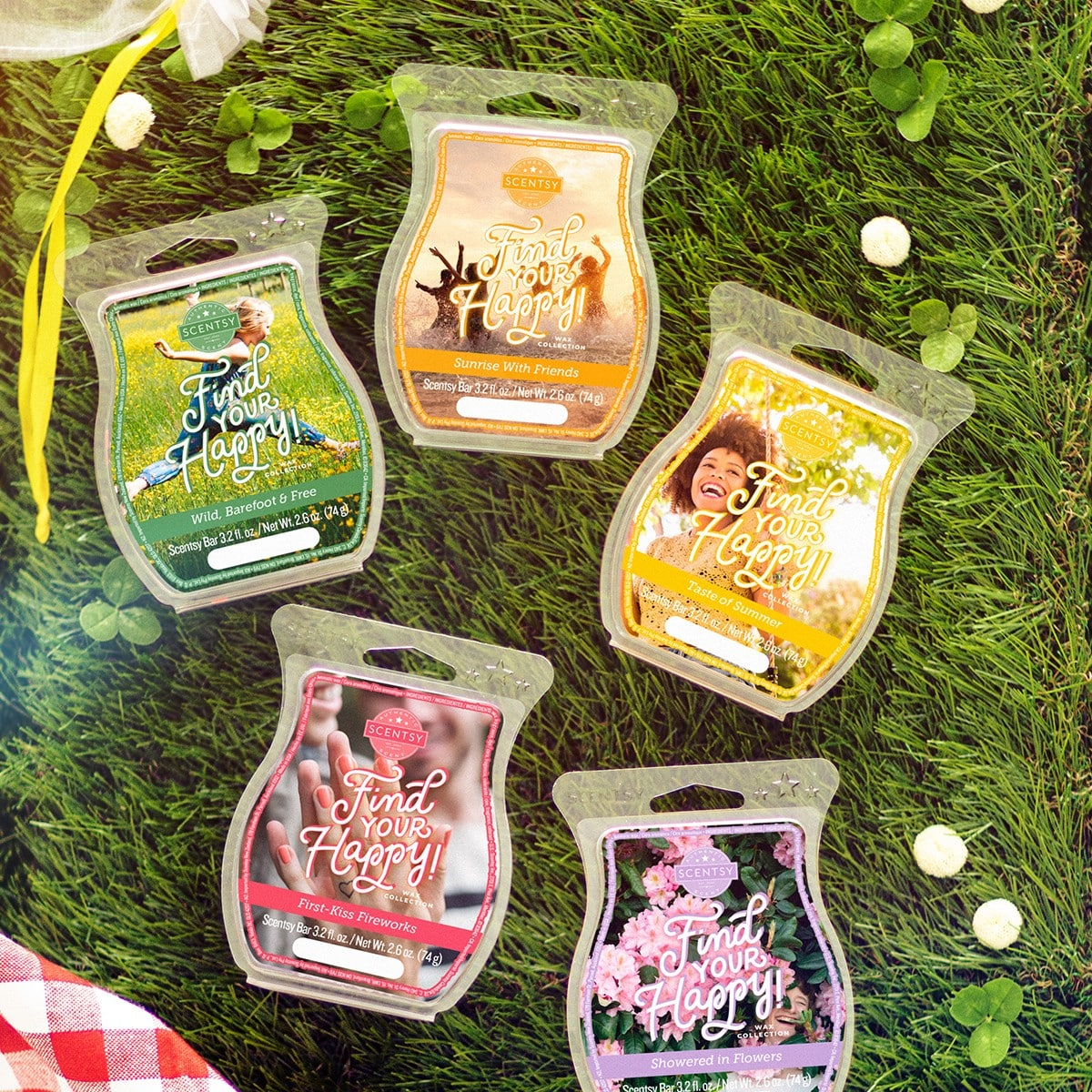 SCENTSY FIND YOUR HAPPY WAX COLLECTION