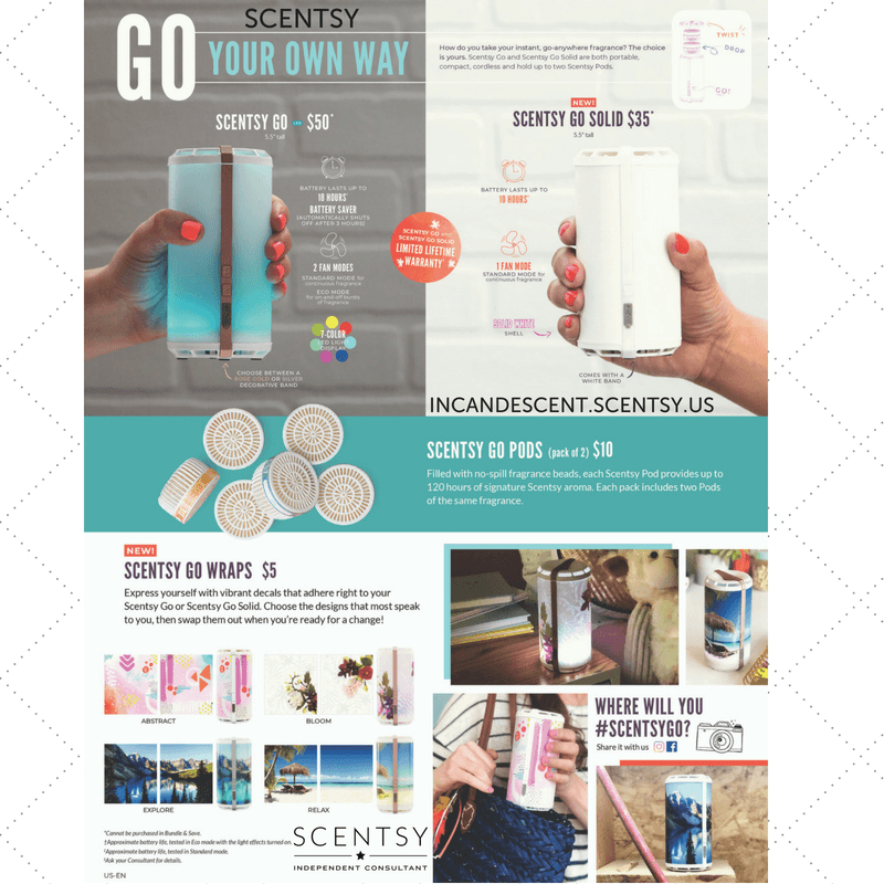 SCENTSY GO AND SCENTSY GO WRAPS PLUS GO PODS (1) | NEW! SCENTSY GO | New Scentsy Cordless Battery Operated Fragrance System | Scentsy® Online Store | Scentsy Warmers & Scents | Incandescent.Scentsy.us